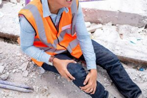 Construction worker injured at the site filing for workers compensation claims.